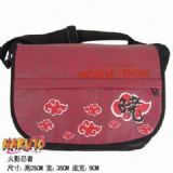 Naruto Red Cloud Waterproof Nylon Satchel