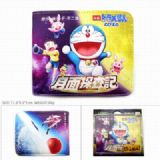 Doraemon Short color picture two fold wallet Purse