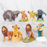 The Lion King a set of eight Bagged Figure Decorat