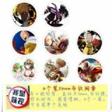 One Punch Man-1 Brooch Price For 8 Pcs A Set 58MM