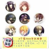 Hakuoki Shinsengumi Kitan Brooch Price For 8 Pcs A