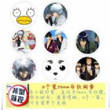 Gintama Brooch Price For 8 Pcs A Set 58MM