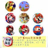 Mario Brooch Price For 8 Pcs A Set 58MM