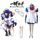 Battle Vixens Shimei Ryomou Maid Uniform Anime Cos