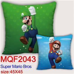 Mario Double-sided full color pillow dragon ball 45X45CM MQF 2043