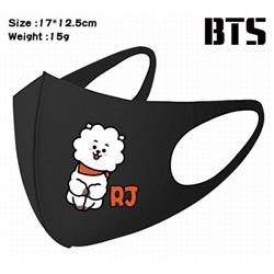BTS-14A Black Anime color printing windproof dustproof breathable mask price for 5 pcs