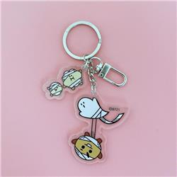 BTS Biscuits Cartoon transparent acrylic keychain pendant price for 5 pcs