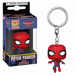 Spiderman red POP Boxed Figure Keychain pendant 5CM