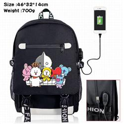 BTS-3A Black Color data cable Backpack