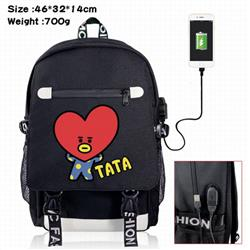 BTS-9A Black Color data cable Backpack
