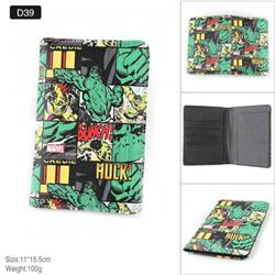 Marvel The Avengers Hulk Full Color PU leather multi-function travel ticket holder passport protector D39