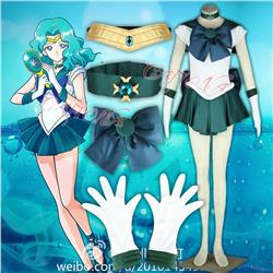 HOT Anime COS Super Girls Sailor Moon Sailor Neptune Kaiou Michiru Cosplay Costume Any Size Halloween L,XL,XXL