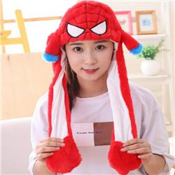 Spiderman Cartoon anime Rabbit ear hat Pinching the ear will move Non-illuminated version price for 3 pcs