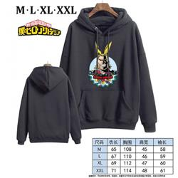 My Hero Academia-4 Black Printed hooded and velvet padded sweater M L XL XXL