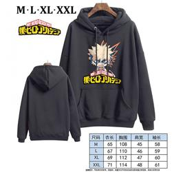 My Hero Academia-8 Black Printed hooded and velvet padded sweater M L XL XXL
