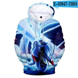 inuyasha anime 3D hoodie 2xs to 4xl