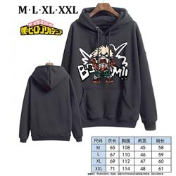My Hero Academia-3 Black Printed hooded and velvet padded sweater M L XL XXL