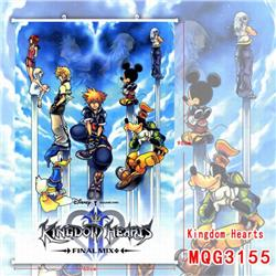 Kingdom Hearts White Plastic rod Cloth painting Wall Scroll 60X90CM MQG3155