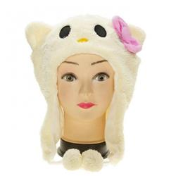 Cartoon Hello Kitty Plush hat warm hat