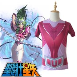Saint Seiya Bronze Saint Shun New Andromeda Cloth Summer T-Shirt Anime Cosplay Costume S/M/L/XL