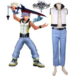 Kingdom Hearts 3D: Dream Drop Distance Riku Uniform Game Cosplay Costume