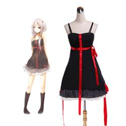 Guilty Crown Yuzuriha Inori Black Dress Cosplay Costume