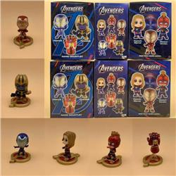 The Avengers a set of six Boxed Figure Decoration Model 7X9X12CM 235G