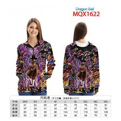Dragon Ball Full color zipper hooded Patch pocket Coat Hoodie 9 sizes from XXS to 4XL MQX 1622