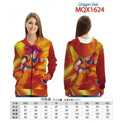 Dragon Ball Full color zipper hooded Patch pocket Coat Hoodie 9 sizes from XXS to 4XL MQX 1624