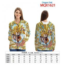 Dragon Ball Full color zipper hooded Patch pocket Coat Hoodie 9 sizes from XXS to 4XL MQX 1621