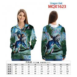 Dragon Ball Full color zipper hooded Patch pocket Coat Hoodie 9 sizes from XXS to 4XL MQX 1623