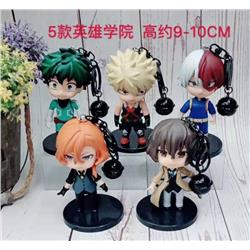 My Hero Academia a set of five Doll Keychain pendant 9-10CM