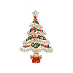 Christmas series Christmas tree Gold Badge badge brooch 3.3X5.6CM 11G price for 6 pcs