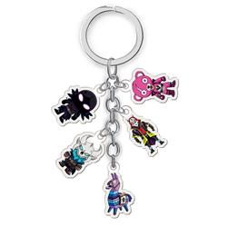 fortnite anime double side acrylic keychain