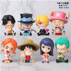 One Piece GK a set of eight Bagged Figure Decoration Model 10CM 0.85KG