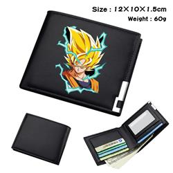 dragon ball Black short folding leather wallet