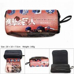 CG-018-Attack on Titan Double zipper student pencil bag stationery bag 20X10X7.5CM 140G