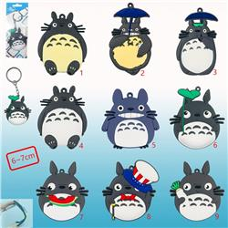 totoro anime double face keychain