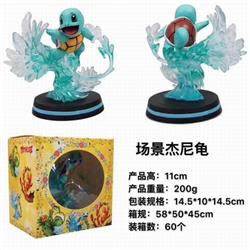 Pokemon Squirtle Boxed Figure Decoration Model 11CM 190G a box of 60