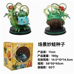 Pokemon Bulbasaur Boxed Figure Decoration Model 11CM 190G a box of 60