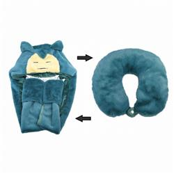 Pokemon Snorlax Transforming plush U-shaped pillow