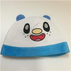 Pokemon Oshawott Cartoon plush cosplay warm hat 30X20CM 100G