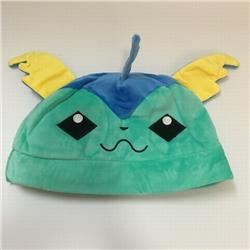 Pokemon Vaporeon Cartoon plush cosplay warm hat 30X20CM 100G