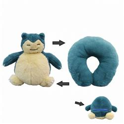 Pokemon Snorlax Plush turned U-shaped pillow