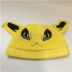Pokemon Jolteon Cartoon plush cosplay warm hat 30X20CM 100G