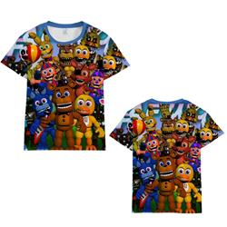 five nights at freddys 3d printed tshirt 2xs to 4xl