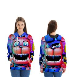five nights at freddys 3d printed hoodie 2xs to 4xl