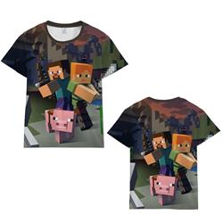 Minecraft 3d printed tshirt 2xs to 4xl