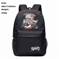 Demon Slayer Kimets Hashibira Inosuke Anime 600D Canvas Backpack Waterproof School Bag 48X17X35CM 400G
