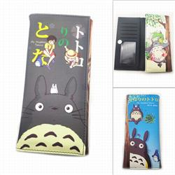 Totoro Long Full Color Tri-Fold Magnetic Buckle Wallet 18.5X9.5X2CM 100G PK-018